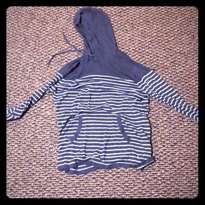 Other - Striped blue light hoodie size XL (fits large)